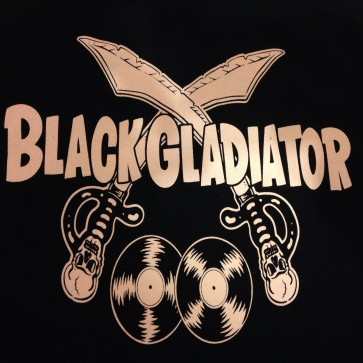 BLACK GLADIATOR T-SHIRT WOMEN'S (LARGE)