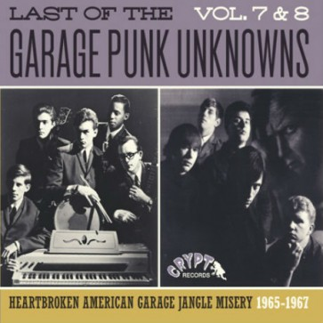 """VARIOUS ARTISTS """"The Last Of The Garage Punk Unknowns Vol. 7+8"""" CD"""