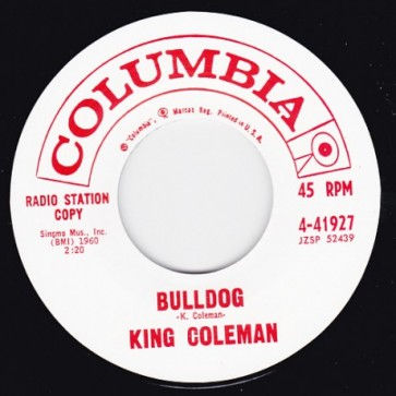 "KING COLEMAN ""Bulldog/ Black Bottom Blues"" 7"""