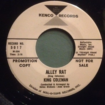 """KING COLEMAN """"Alley Rat/ Dressed In Plaid"""" 7"""""""