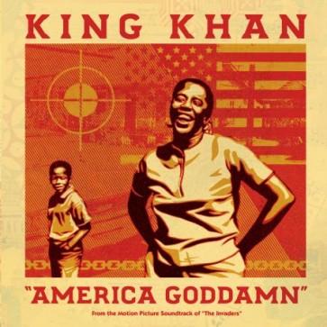 "KING KHAN ""America Goddamn / Mule Train"" 7"" (Neon Orange vinyl)"