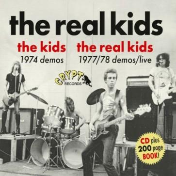 """REAL KIDS """"The Kids 1974 Demos / The Real Kids 1977/78 Demos / Live"""" CD plus book"""