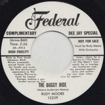 """MOORE, RUDY """"Buggy Ride/ Ring A-Ling Dong"""" 7"""""""