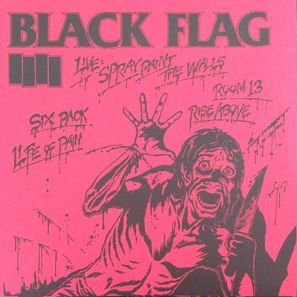 Black Flag Spray Paint 7 Red Vinyl