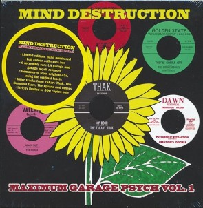 "VARIOUS ARTISTS ""Mind Destruction: Maximum Garage Psych Volume 1"" (Box set, 6x7"", LTD)"