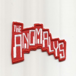 ANOMALYS embroidered patch red&white
