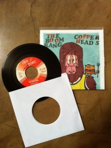 "THE BOOM BANG/ COPPERHEADS ""Split"" 45"