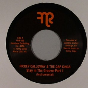 "RICKEY CALLOWAY & THE DAP KINGS ""Stay In The Groove Part 1 / Part 2"" 7"""