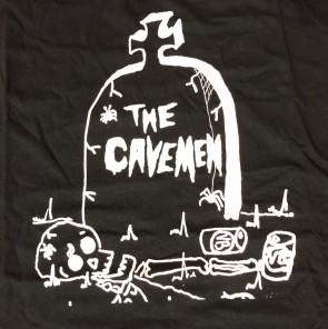 CAVEMEN T-SHIRT BLACK (Ladies L)