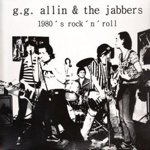"""GG ALLIN &THE JABBERS """"1980's Rock 'N' Roll"""" (WHITE vinyl) LP"""