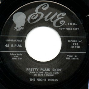 "NIGHT RIDERS ""Pretty Plaid Skirt/ I'll Never Change"" 7"""
