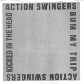 "ACTION SWINGERS """"Kicked In The Head"" (BLUE vinyl"" 7"" (deadstock)"