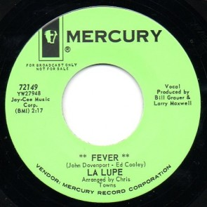 """LA LUPE """"Fever/ Oooh"""" 7"""""""