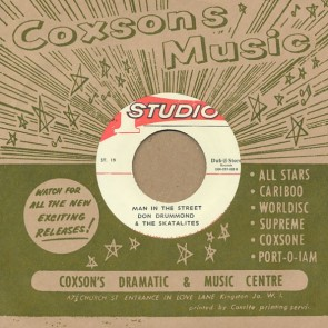 "STUDIO ONE ALL STARS/ DON DRUMMOND & THE SKATALITES ""Give Me One More Kiss / Man In The Street"" 7"""