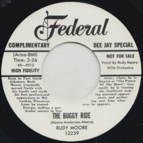 "MOORE, RUDY ""Buggy Ride/ Ring A-Ling Dong"" 7"""