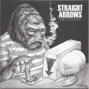 "STRAIGHT ARROWS ""21st Century /Cyberbully"" 7"" (Black & white cover)"