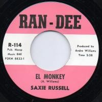 """RUSSELL, SAXIE """"El Monkey/ Come Dance With Me"""" 7"""""""