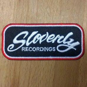 Slovenly Recordings embroidered patch