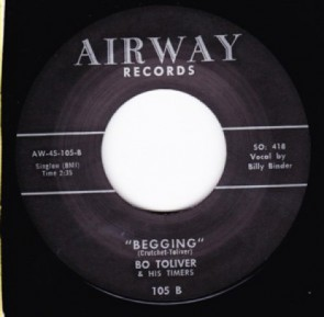 "BO TOLIVER ""Begging/ Farm Dell Rock"" 7"""