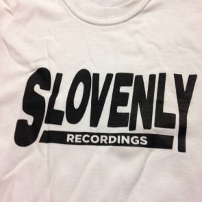 SLOVENLY WHITE BLOCK T-SHIRT WOMEN'S (LARGE)