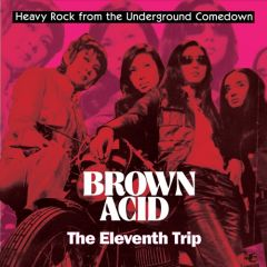 "VARIOUS ARTISTS ""Brown Acid - The Eleventh Trip"" LP (BLUE MARBLE vinyl)"