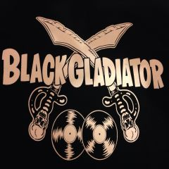 BLACK GLADIATOR T-SHIRT