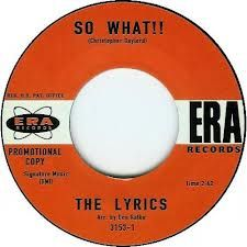 """LYRICS """"So What!!/ They Can't Hurt Me"""" 7"""""""