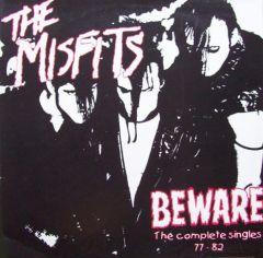 "MISFITS ""Beware - The Complete Singles 77 - 82"" LP (CLEAR vinyl)"