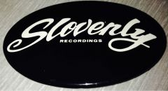 SLOVENLY 1.75X2.75 OVAL GLOW IN THE DARK BUTTON