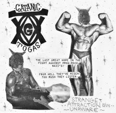 "SATANIC TOGAS/ ZOIDS ""Split"" 7"" (Black & White cover)"