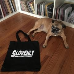 SLOVENLY TOTE BAG (Black & White)