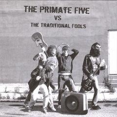 """TRADITIONAL FOOLS/ PRIMATE FIVE """"Split"""" 7"""" (Repress) (Black & white cover)"""