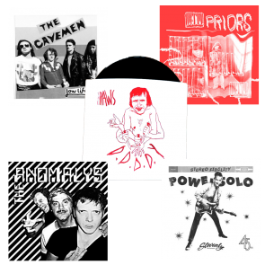 "FEB 2019 7"" MEMBER CLUB: POWERSOLO! CAVEMEN! ANOMALYS! PRIORS! RAWS!"