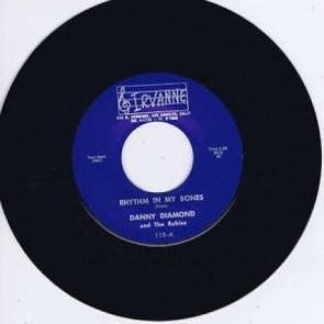 "DANNY DIAMOND & The Rubies – RHYTHM IN MY BONES b/w THE BADMAN RE 7"""